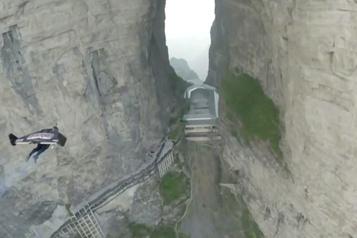 Un exploit volant au mont Tianmen