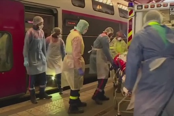 France : un train médicalisé pour transporter des patients