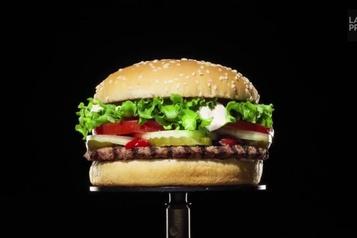 Un Whopper moisi, l'image de la nouvelle campagne publicitaire de Burger King
