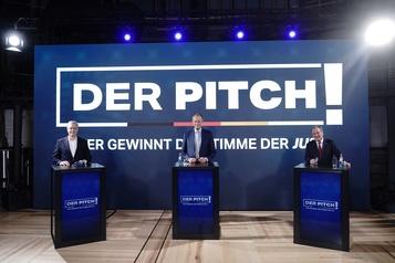 Débat La chancelière Angela Merkel épargnée par les candidats à sa succession)