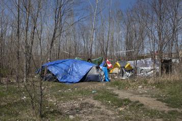 Le campement de sans-abri dansHochelaga-Maisonneuve)