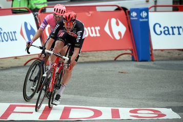 Tour d'Espagne Michael Woods battu de justesse: «Je sais que j'ai bien couru» )