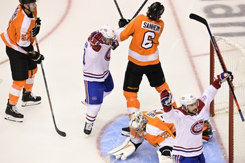 Canadien 4, Flyers 0 (2e entracte))
