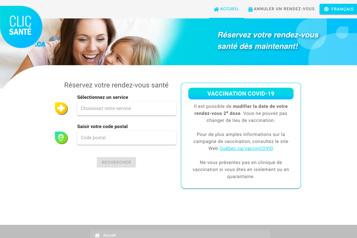 Clic Santé Les problèmes techniques seront réglés «dans les prochains jours» )