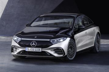 EQS Mercedes-Benz lance sa première berline de grand luxe électrique)
