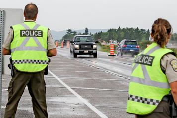 Présence policière accrue sur les routes en ce week-end de l'Action de grâce