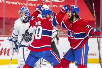 Marque finale Maple Leafs 2 - Canadien 4)
