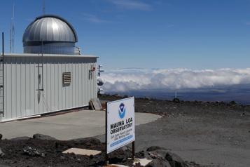 Mesure de l'observatoire d'Hawaii Un nouveau record de concentration de CO2 dans l'air)
