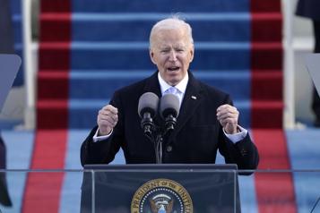 Investi, Joe Biden appelle l'Amérique à «l'unité»)