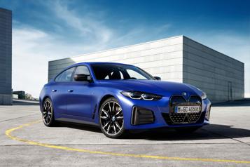 BMW Dévoilement des livrées de production des modèles électriquesi4 et iX)