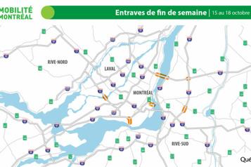 Entraves majeures sur le réseau routier ce week-end