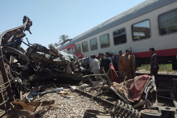Collision ferroviaire en Égypte Un conducteur et son assistant étaient absents de leur poste)