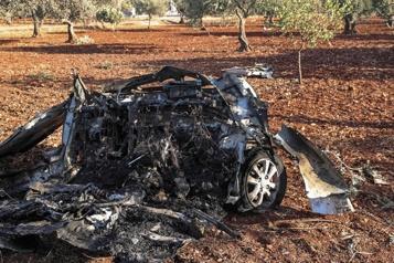 Syrie Deux chefs djihadistes tués par un drone américain près d'Idlib )