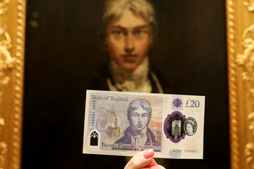Un nouveau billet de 20£ au Royaume-Uni
