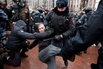 Russie Plus de 2000arrestations lors de manifestations soutenant Navalny)