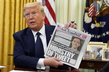 Trump signe un décret pour limiter la protection des réseaux sociaux)