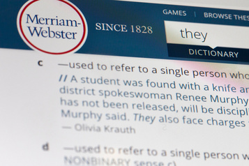Le pronom « they » est le mot de l'année, selon Merriam-Webster