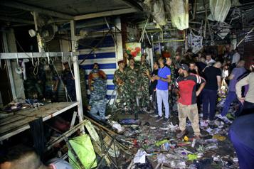 Attentat dans un marché de Bagdad Sanglant message des djihadistes de l'État islamique)