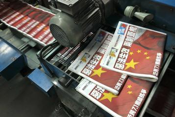 HongKong Raid policier au journal prodémocratie Apple Daily)
