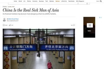 «Homme malade de l'Asie»: la Chine expulse trois journalistes américains pour un texte d'opinion