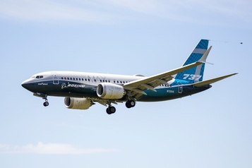 Fin des vols de certification pour le Boeing 737 MAX)