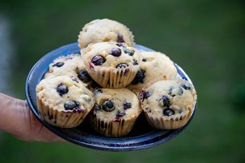 Muffins aux bleuets et à l'orange