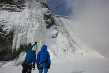Pas d'escalade à la chute Montmorency