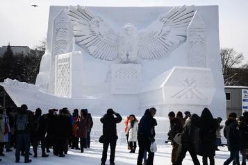 Un festival de la neige sans neige à Sapporo