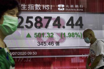 Les Bourses asiatiques ont démarré la semaine sur les chapeaux de roue)
