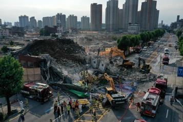 Corée du Sud L'effondrement d'un immeuble fait neuf morts)
