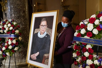 Ruth Bader Ginsburg honorée au Capitole)