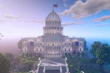 Élection présidentielle américaine Des bureaux de vote dans Minecraft)