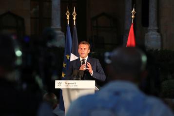 À Beyrouth, Macron réclame une enquête internationale, des «changements»)