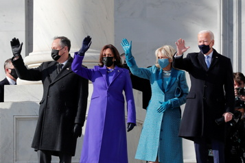 Cérémonie d'investiture Jill Biden et Kamala Harris choisissent des designers américains)
