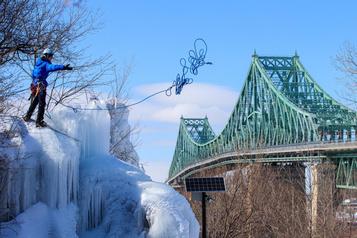 De l'escalade de glace à Montréal