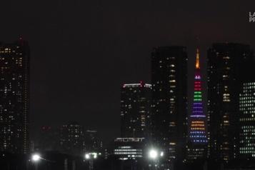 Tokyo s'illumine à 100 jours du début des Jeux olympiques)