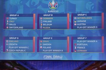 Euro2020: le Portugal, la France et l'Allemagne dans le même groupe
