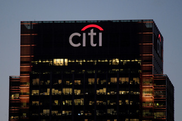 Citigroup: le profit plombé par les milliards mis de côté pour faire face aux impayés)