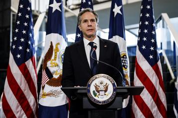 Le nouveau secrétaire d'État Anthony Blinken, veut rassurer le monde)