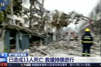 Chine Douze morts dans une explosion au gaz dans un quartier résidentiel)