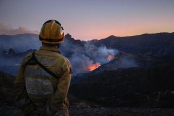 L'incendie de Grande Canarie fait moins de dégâts que prévu