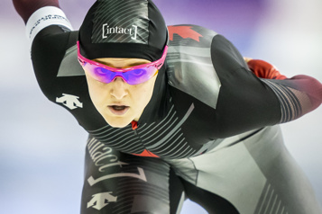 Patinage de vitesse longue piste Heather McLean remporte le bronze aux Pays-Bas)