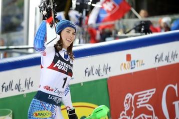 Petra Vlhova freine la séquence de Mikaela Shiffrin en slalom