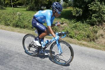 Nairo Quintana heurté par un véhicule à l'entraînement)