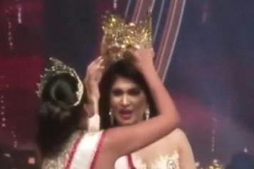 La gagnante de Miss Sri Lanka déçue par une bagarre sur scène)