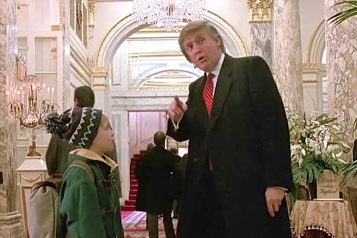 Trump coupé au montage dans Home Alone 2 ?)
