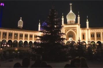 Le marché de Noël de Copenhague illuminé