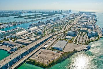Une gare au port de Miami