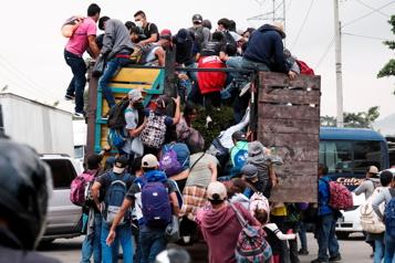 Honduras Une caravane de 3000migrants en direction des États-Unis)