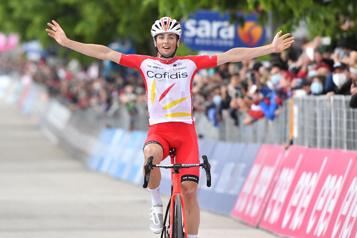 Tour d'Italie Victor Lafay remporte sa première victoire chez les professionnels)